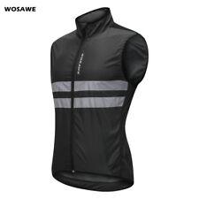 Mens Windproof Cycling Vest Bike Reflective Gilet Waistcoat Sleeveless Jersey