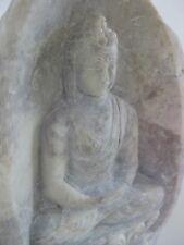 "Stone Buddha ~ 5.25"" hand carved rock statue, Dhyana mudra"