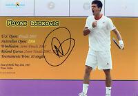 NOVAK DJOKOVIC Signed 12x8 Photo TENNIS Champion WIMBLEDON COA