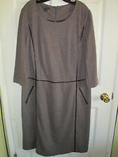SIZE 14 LAFAYETTE 148 NEW YORK FANML 3/4 SLEEVE SWEATER DRESS NWT $568