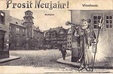 Witzenhausen. Prosit Neujahr! Marktplatz-Künstlerkarte gebraucht 1907