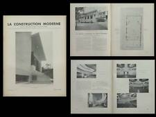LA CONSTRUCTION MODERNE - n°17 - 1936 - NEUILLY SUR SEINE, CINEMA BALZAC PARIS