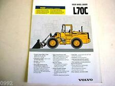 Volvo L70C Wheel Loader Brochure