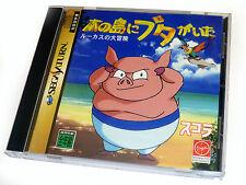Japonés Sega Saturn Juego Minami no Shima ni sinoun Ga Ita-Cerdo Isla Japón En Caja