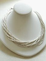 Sterling Silver Liquid Silver 20 Strand Necklace   746974