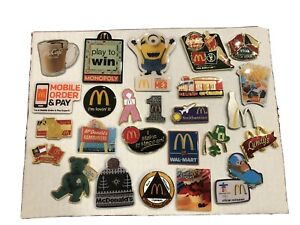 McDonald's Lot of 25 different Pins Restaurant Promotions, Olympics, World Cup
