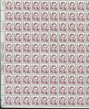 Full Sheet of 100 Statesman Wendell Willkie US Stamps #2192a Brookman Price $575