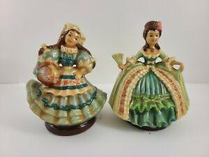 Vintage chalkware figurines