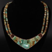 """Copper - JAY KING DTR Southwestern Turquoise Bead 20"""" Statement Necklace - 84.5g"""