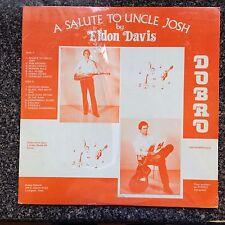 SEALED   Salute to Uncle Josh by Eldon Davis Dobro LP  Breeze Records NEW SEALED