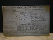 Metal PMCO Speedswing Sign Operating Instruction Pettibone Mulliken