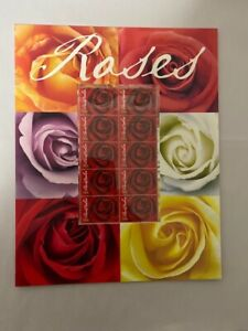 2006 Red roses Presentation Mini Sheet in card