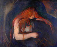 Vampire Edvard Munch Fine Art Print on CANVAS Painting Giclee Reproduction Small