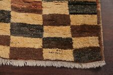 Plaid Checkered Thick Pile Earth-tone Color MODERN Oriental Area Rug WOOL 4x6
