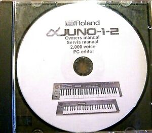 Roland Juno Alpha 1 - 2  , CD 2000 Voice programs - inclusive voice factory