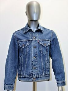 LEVIS denim trucker jacket vintage 80's taille M 40R US 46 EUR made in USA