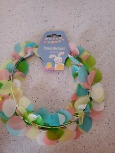 Easter Egg Mini Wire Garland Tinsel Pastel Party Decor Wreath 25'