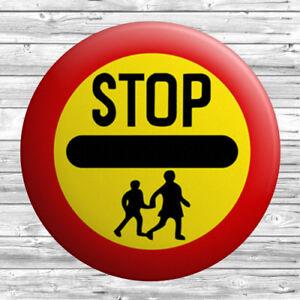 Lollipop Sign Badge 1.5 inch / 38mm Novelty Gift School Crossing Man Lady