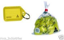 Kevron Key Ring Tags - Yellow - Bag of 100 Tags