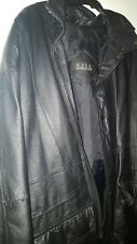 New York Direct Action XL Black Men's Leather Pocketed Jacket