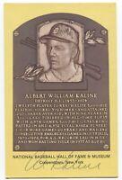 Al Kaline Signed Gold HOF Plaque Baseball Hall of Fame Autographed Postcard
