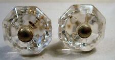 Glass Matching True Vintage Knob Pull x2 Cabinet Furniture Salvaged Old Hardware