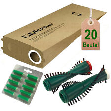 20 Filtertüten Ersatzbürsten Duft passend für Vorwerk Kobold 118 119 120 121 122