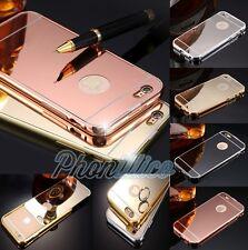 COVER CUSTODIA BUMPER ALLUMINIO SPECCHIO PER APPLE IPHONE 6/6S/5S/SE/7/7Plus