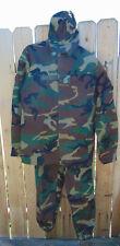 Italian Military Woodland Camo XL/XXL Combat Uniform w/Jacket,Pants & hat, New