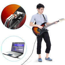 6.5mm Guitar Bass To USB Link Connection Instrument Cable adapter (PC Recording)