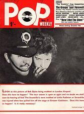 Pop Weekly Magazine 9 October 1965    Bob Dylan    The Beach Boys    Brian Jones