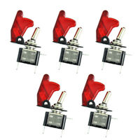 5 X 12V 20A 20Amp Red Cover LED Light Toggle Switch SPST ON/OFF Car Auto Boat