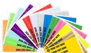 """3/4"""" Custom Printed or Plain Paper Tyvek Wristbands Security,Events,Festivals"""