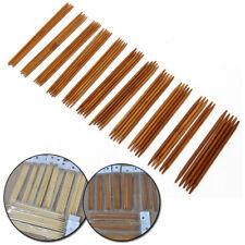 55pcs 11 Sizes Double Pointed Carbonized Bamboo Knitting Needles Crochet Set UK