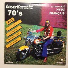 LASER KARAOKE 70'S VOL.3 // LASER DISC PIONEER NTSC // PETIT FORMAT