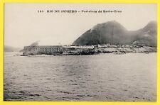 cpa BRASIL FORTALEZA de SANTA CRUZ da BARRA NITEROI Vista de RIO de JANEIRO