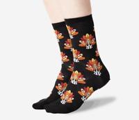 HOT SOX Turkey Dog Women's Crew Sock Shoe Size 4-10.5 Retired Print Basset Hound