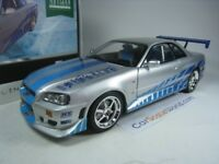 NISSAN SKYLINE GT-R R34 BRIAN O´CONNER FAST AND FURIOUS 1/18 GREENLIGHT