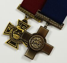 2 Full Size WW1 WW2 Service Medals. George/Victoria Cross. Highest Honours