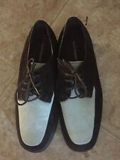 HUSH PUPPIES Women's 8 M Vtg Nineties Suede 2-Tone Lace-Up Oxfords Lavender EUC!