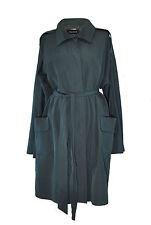 ** Jaeger ** Green Belted Coat ** Size XL ** Lightweight / Mac ** Cotton **