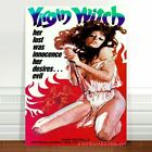"""Vintage Horror Movie Poster Art ~ CANVAS PRINT 8x12"""" The Virgin Witch"""