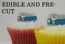 x24 CAMPER VAN VW edible wafer paper stand up cup cake toppers PRE-CUT
