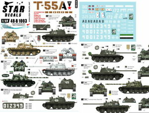 Star Decals for 1/48 T-55A War. Africa, Middle East and Afghanistan.