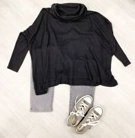 Phase Eight Ladies Sz M Cowl Neck Top  Charcoal Grey Long Sleeve Largenlook