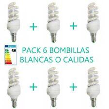 PACK 6 BOMBILLAS 11W LUZ BLANCA O CALIDA E14 BOMBILLA  LED OSSUN AHORRO ENERGIA