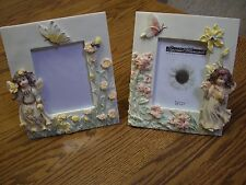 "2 Special Moments Ceramic Photo Frames (Angel in a Garden) (7"" Tall x 6"" Wide)"