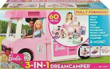 More details for barbie 3-in-1 dream camper van and accessories playset