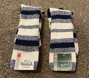 Brand New Men's Woolrich Camp Socks Size Large 2 Pairs $32 Value