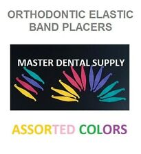 10 Ortho Elastic Rubber Band Placers for Braces Assorted Colors Bag Orthodontic